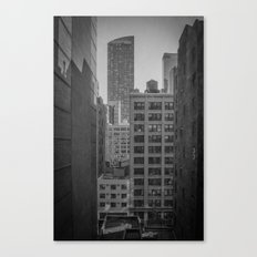 grimy nyc window... Canvas Print