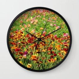 Floral Extravaganza Wall Clock