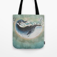 the Blue Whale Tote Bag
