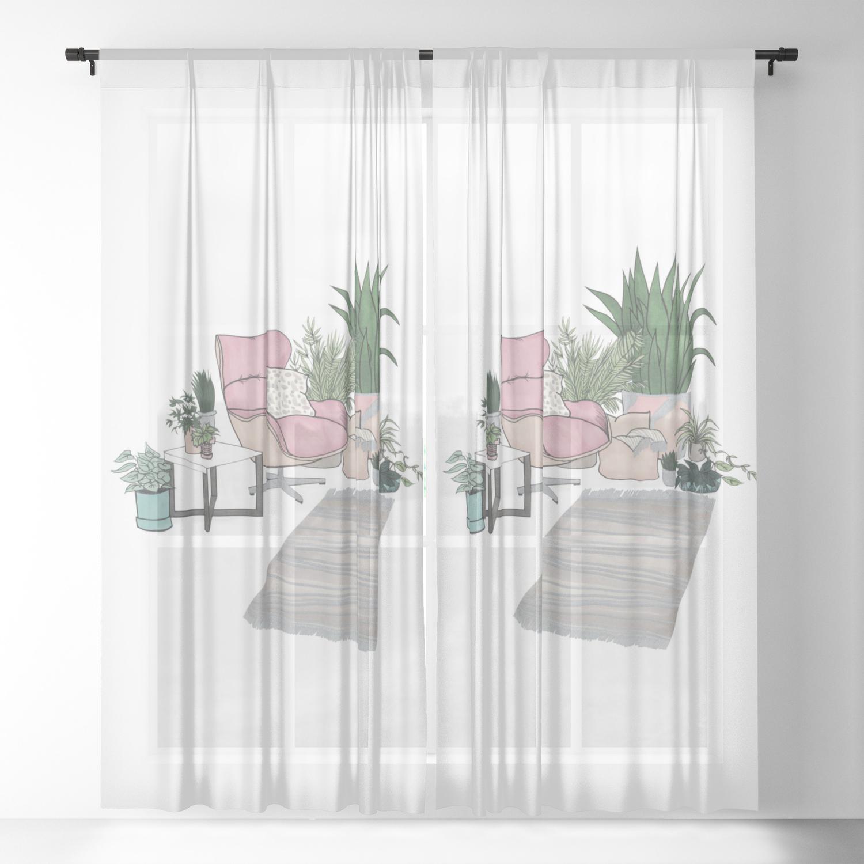 Living Room Sheer Curtain By Melaniab