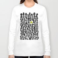 garden Long Sleeve T-shirts featuring Turtle in Stone Garden by Picomodi