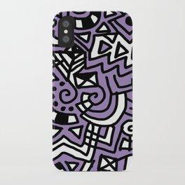 The Purple Doodle iPhone Case