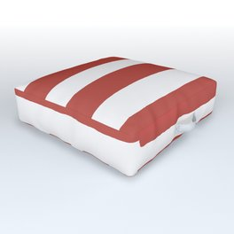 Big Stripes In Red Outdoor Floor Cushion
