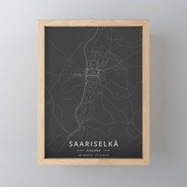 Saariselka, Finland - Dark Framed Mini Art Print