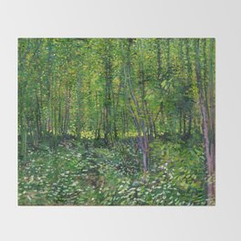 Vincent Van Gogh Trees and Undergrowth 1887 Throw Blanket