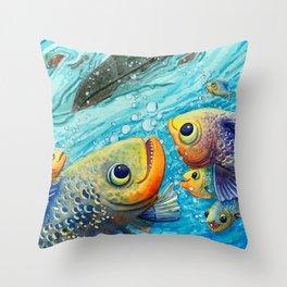 Thanks Fish Throw Pillow