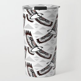 The Hawk's Flight_Bg Gray Travel Mug