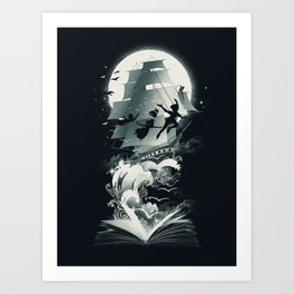 Book of Dreams and Adventures Art Print