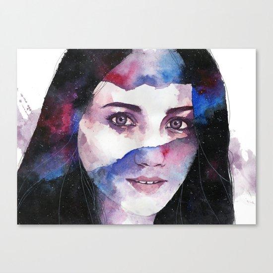Tonight I gaze at the stars Canvas Print