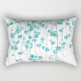 string of hearts watercolor Rectangular Pillow