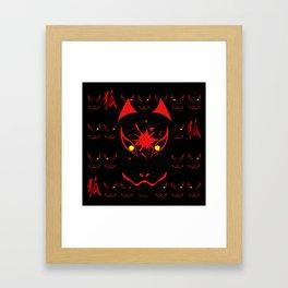 """Japanese Fox Mask """"Dark"""" Framed Art Print"""