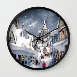 Snowy Hogsmeade Wall Clock