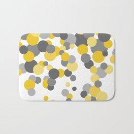 Falling Dots - Yellows and Grays Bath Mat