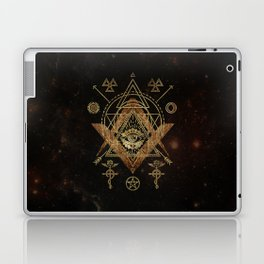 Mystical Sacred Geometry Ornament Laptop & iPad Skin