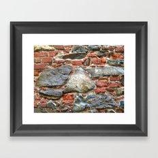 Stone, Brick, Coral, Wall, Historic St. Thomas, USVI Framed Art Print