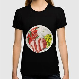 Healthy meal watercolor T-shirt