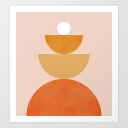 Abstraction Circles Balance Modern Minimalism 007 Art Print