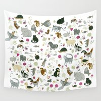 toddler Wall Tapestries featuring Animal Chart by Yuliya