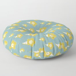 Rose of Sharon Hibiscus Floral Print Floor Pillow