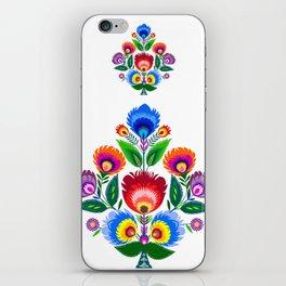 folk flowers ornament  iPhone Skin
