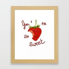 Sweet to eat / à croquer Framed Art Print