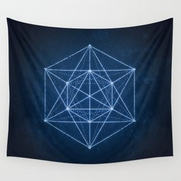 Sacred geometry / Minimal Hipster Symbol Art Wall Tapestry