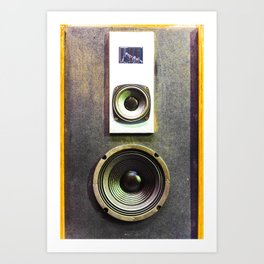 Vintage Retro Speaker Art Print