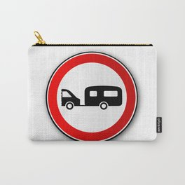 Caravan Road Traffic Sign Carry-All Pouch