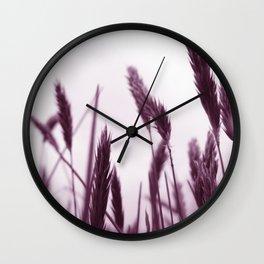 PURPLE GRASS Wall Clock