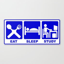 eat, sleep, study-hack Canvas Print
