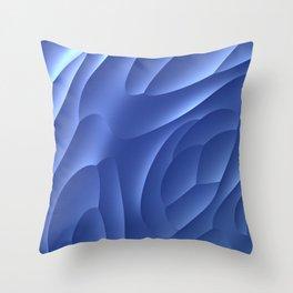 Blue Dune Throw Pillow