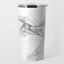 Cape Town Map White Travel Mug