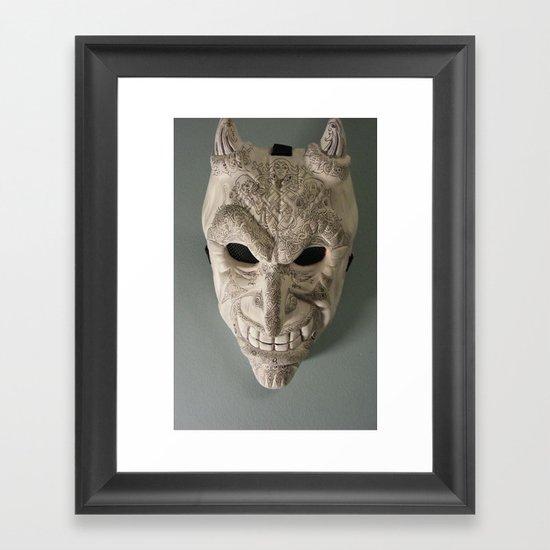 celtic demon Framed Art Print