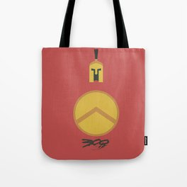 300, minimal movie poster,  Frank Miller, Zack Snyder, Gerard Butler, graphic novel Tote Bag
