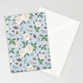 Roses, Moths and Ladybirds Stationery Cards