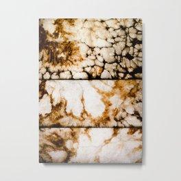 Weathered Alabaster - Grittier Metal Print