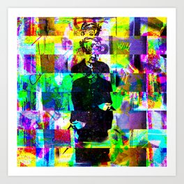 Wednesday 29 May 2013: Tracked along a street trafficked by surveillance. Art Print