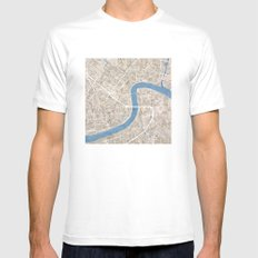 New Orleans Cobblestone Watercolor Map Mens Fitted Tee MEDIUM White