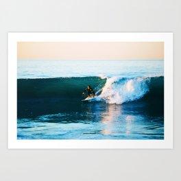 Warm Surf Art Print