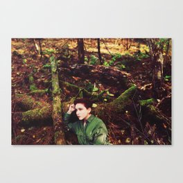 Moss Grows Fat on a Rolling Stone Canvas Print