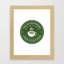 Tea Quote Framed Art Print