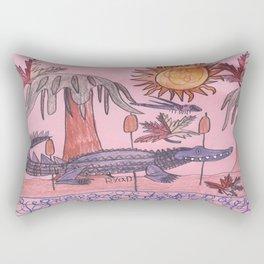 Swamp Hunt Rectangular Pillow