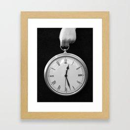 Holding Time Framed Art Print