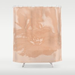 Bloom in Peach Tone Shower Curtain