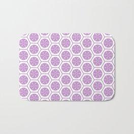 Hex Pattern 72 - pink Bath Mat