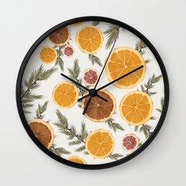 Dried Citrus and Juniper Wall Clock