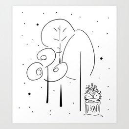 Magical Forest Illustration Art Print