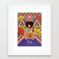 erykah badu Framed Art Prints featuring ERYKAH BADU by Gabriel Martins