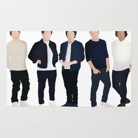 one direction Area & Throw Rugs featuring One Direction by kikabarros