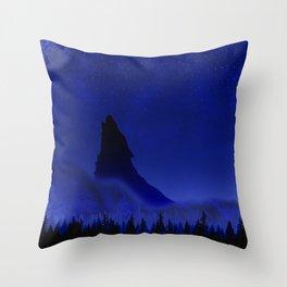 Wolf's Night Throw Pillow